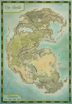 private commission for an RPG group running a campaign set in a prehistoric fantasy world. Fantasy Map Making, Fantasy City Map, Fantasy World Map, Fantasy Island, Dnd World Map, Imaginary Maps, Rpg Map, Dungeon Maps, Island Map