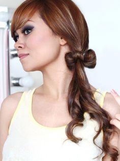Hair Bow Tutorial Hairstyle - Lady Gaga Inspired