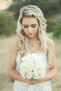 Drop-Dead Gorgeous Wedding Dresses - wedding hairstyle; Koman Photography