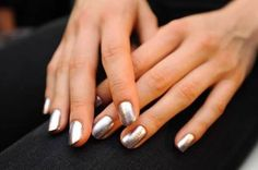 How-to: The rounded metallic nails at Erin Fetherston S/S '13: http://beautyeditor.ca/2012/11/12/how-to-the-rounded-metallic-nails-at-erin-fetherston-ss-13/