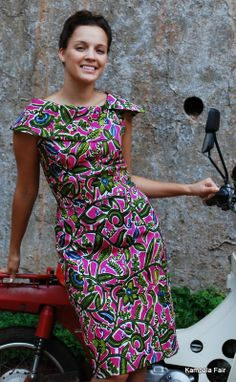 African print dress #AfricaFashion #AfricanPrints
