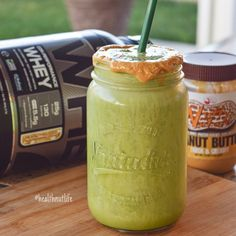 """beholddddd a mouthwatering smoothie topped with our new HIGH PROTEIN PEANUT SPREADS! """"Nutty By Nature"""" ❤️ recipe creds to the amazing @twofittwins"""