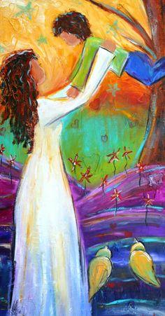 Eres... mi frase más sobresaliente, jamás escrita; el curso más sustancial, nunca dictado; el mejor aplauso, no escuchado.   Mis mayores logros y mejores títulos son aquellos que me otorgas cada día, a través de tu sonrisa, de tus palabras, de tus abrazos.   Eres, simple y sencillamente, la huella más visible de mi existencia (Alecar).