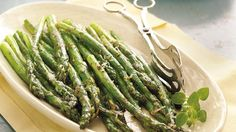 Simple seasonings and Parmesan cheese enhance the flavors of naturally delicious asparagus. It's ready in 30 minutes!