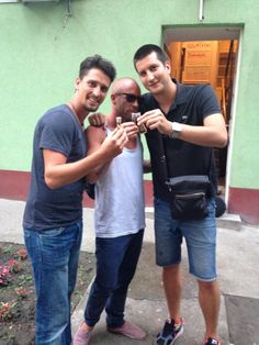 Steve, Thomas and me having rakija!!