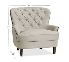 Cardiff Upholstered Armchair, Polyester Wrapped Cushions, Twill White