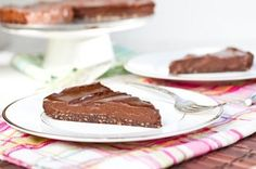 Chilled Double Chocolate Torte (no-bake version, GF) by Oh She Glows