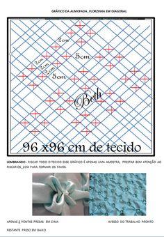 beth almofadas em capitonê: almofada florzinha em diagonal