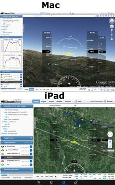 The latest updates from CloudAhoy include a glass cockpit view: http://ipadpilotnews.com/2015/02/cloudahoy-adds-glass-cockpit-view-new-google-export/