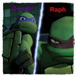 Brothers Raph and Donnie gif. by Theresmorethanme