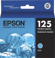 Epson - 125 Ink Cartridge - Cyan (Blue)