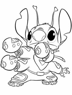 14 Best Coloring Pages Lineart Disney Lilo And Stitch Images