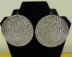 big circle rhinestone earrings
