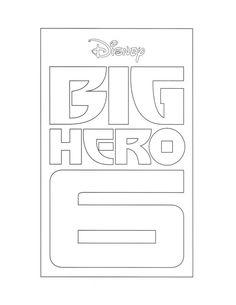 Big Hero 6 Logo - Coloring Sheet #BigHero6