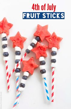 4th of July Fruit Sticks @realfoodbydad
