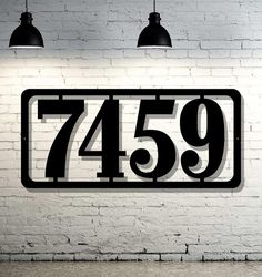 Hey, I found this really awesome Etsy listing at https://www.etsy.com/listing/275137080/simple-modern-custom-metal-address-sign