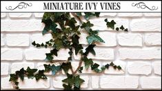 🌿How to Make Miniature Ivy Vines🌿