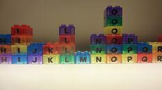 DIY alphabet building blocks for light table.