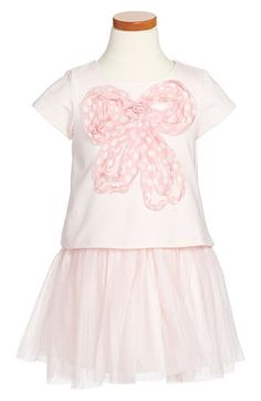 Toddler Girl's Pippa & Julie Bow & Tulle Dress