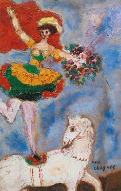 Marc Chagall「L'écuyère au Cheval Blanc」(1927)