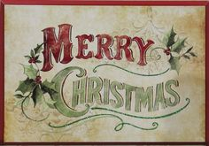 """This stunning Susan Winget piece says, """"Merry Christmas."""" Decorate your home with this sophisticated sign!"""