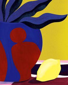 VO | Valérie Oualid : Agent d'illustrateurs | Léa Morichon | Nature Morte Vintage Poster, Exhibition, Pink Fashion, Gouache, Vintage Designs, Contemporary Art, Sculptures, Colours, Shapes