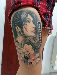 See 2 photos from 10 visitors to tattoo rascal. Sakura Cherry Blossom, Leg Tattoos, Inked Girls, Portrait, Girls With Tattoo, Tattooed Girls, Headshot Photography, Tattooed Women, Tattoo Girls