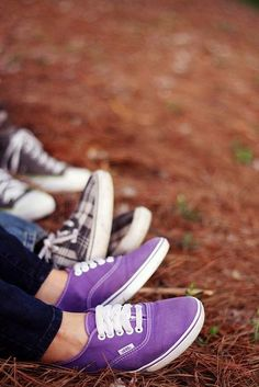 #Love purple Vans shoes