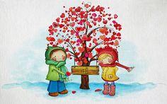 Childrens Valentine - Winter Wallpaper ID 1665826 - Desktop Nexus Nature
