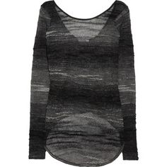 Helmut Lang Pulled-texture fine-knit sweater