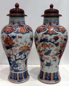 Ancienne paire de vases en PORCELAINE FLEURS CHINE 18ème • EUR 1.500,00