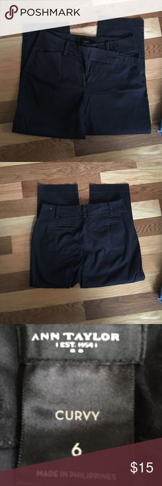 """Ann Taylor Pants for Curves Sz 6 Waist 33."""" Rise 10."""" Inseam 24."""" Hips 40-43."""" These are new with very nice stretch. This material makes these nice to wear day or night. They narrow but not skinny pants. Inside and outside button closure with long tab. Bundle with a belt, top and shoes. Ann Taylor Pants"""