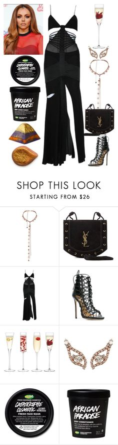 """Sexy Dinner Party"" by allison-syko ❤ liked on Polyvore featuring Agent Provocateur, Yves Saint Laurent, Dsquared2 and LSA International"