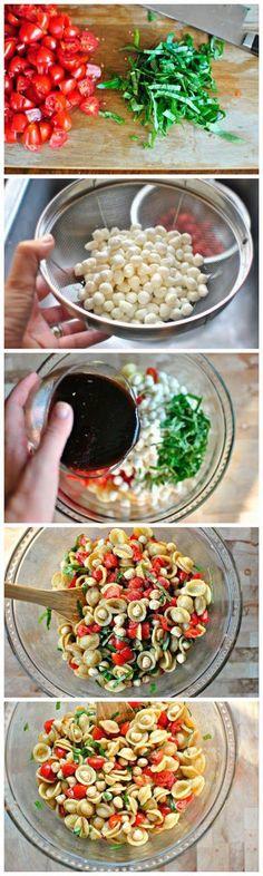 Caprese Pasta Salad - Love with recipe