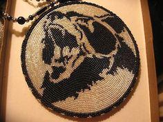 Native American Beaded Roaring Bear Medallion Necklace | eBay
