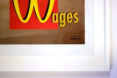 'Raise Wages' by Mark Campbell To celebrate its Red Lines campaign Common Weal has commissioned five artists to produce a piece of art to. Campaign, Company Logo, Artists, Red, Image, Artist