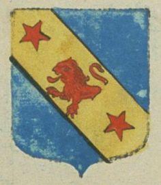 Antoine MILLET, avocat au parlement de Provence. Porte : d'azur, à une bande d'or, chargée d'un demy lion de gueules, accosté de deux étoiles de même | N° 105