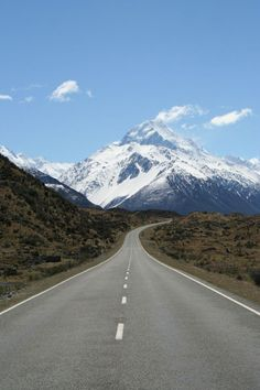 The road to Mount Cook - where I legitimately thought I was going to die