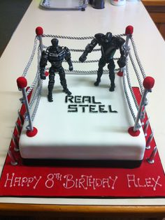 Atom Real Steel Boxing Robot 3D Birthday Cake By Eva Rose Cakes