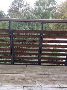 Balkongeländer Holz, Metall
