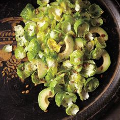 No roasting pan necessary for these adorable cabbage cousins: Tossed with avocado and coated in a bright lemon-Dijon dressing, the tender Brussels sprout leaves make a showstopping salad.