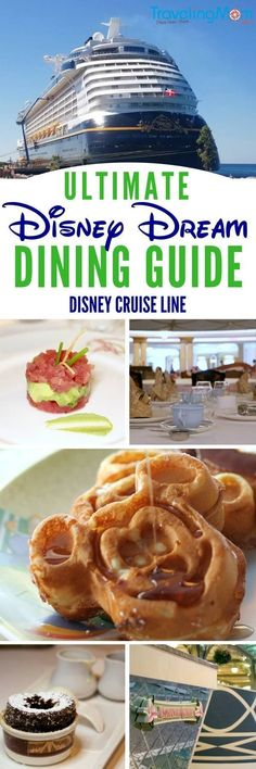 Planning a Disney Cruise Line vacation aboard the Disney Dream? Find out everything you need to know about Disney Dream restaurants and food in this Disney Dream dining guide. #disneycruiseline #DCL #disneydream #tmomdisney