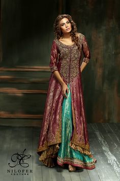 a41dc37359f2 Wedding dulhan wear new Meeras classy Bridal Dresses 2015 By Nilofer  Couture are out with latest and stylish design for women.