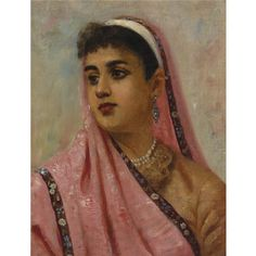 Portrait of a Parsee Lady, an oil painting on canvas by Raja Ravi Varma depicts a Parsi woman clad in the traditional costumes Ravivarma Paintings, Indian Art Paintings, Raja Ravi Varma, Non Blondes, Old Portraits, World Religions, Oil Painting On Canvas, Woman Painting, Beautiful Artwork