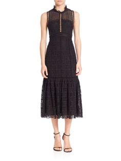 Rebecca Taylor - Crochet Lace Midi Dress