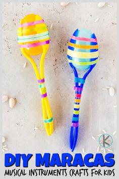 DIY Maracas Musical Instruments Crafts for Kids