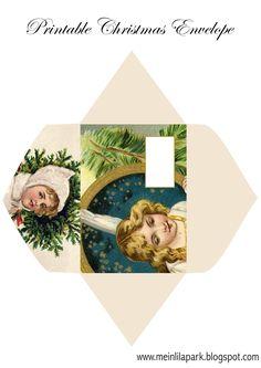 MeinLilaPark – DIY printables and downloads: Free printable Christmas envelope - ausdruckbarer ...
