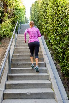 Killer stairs workout shared on LaurenConrad.com