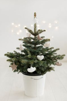 Winter Decorations – Soft Christmas tree decorations – a unique product by mywhitecup on DaWanda