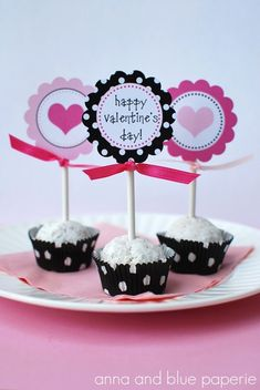 cute set of printables - incl toppers, kisses, H2O bottle labels, etc.